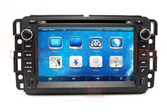 Head Unit Auto Stereo Car Dvd Player Gps Navigation For Buick Enclave With Bluetooth Tv Radio Gps Navigation System Tv Cars Gps Navigation