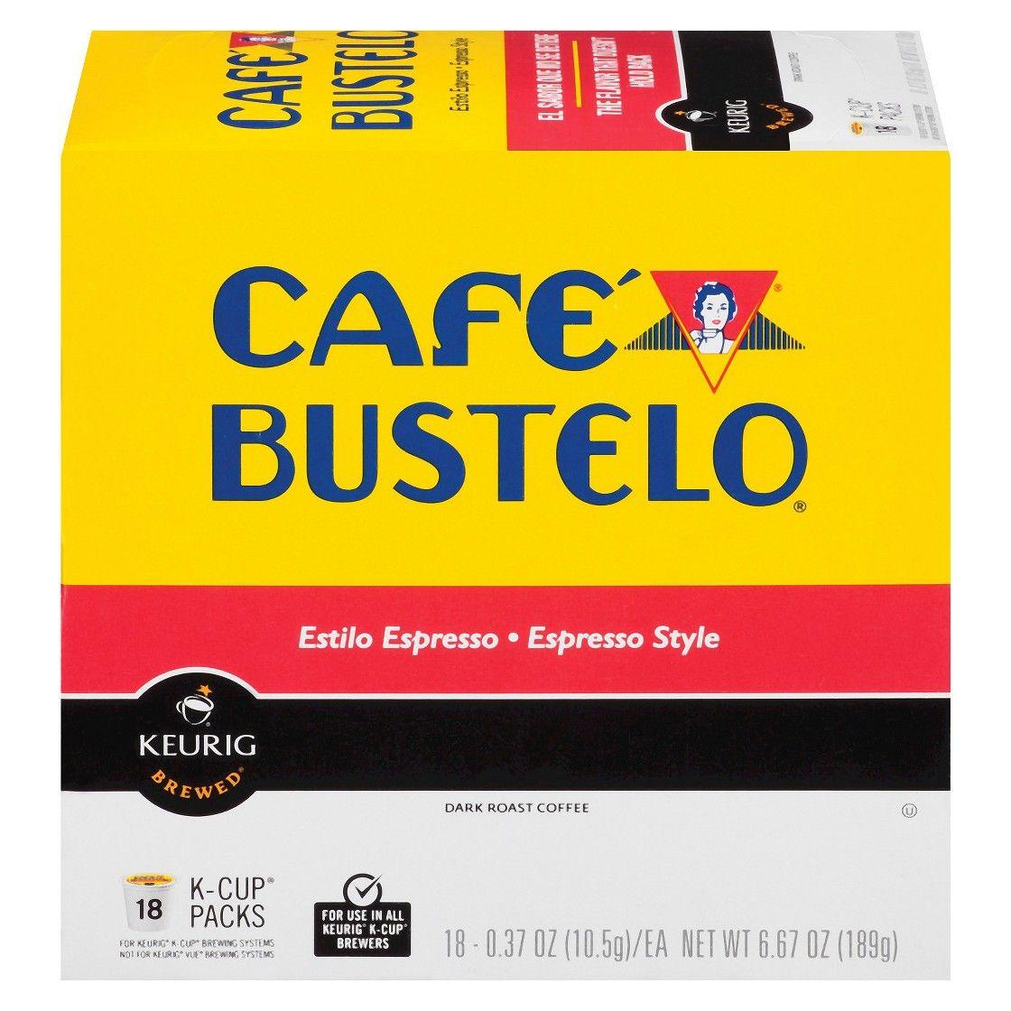 Cafe bustelo espresso kcup 18 ct cafe bustelo coffee