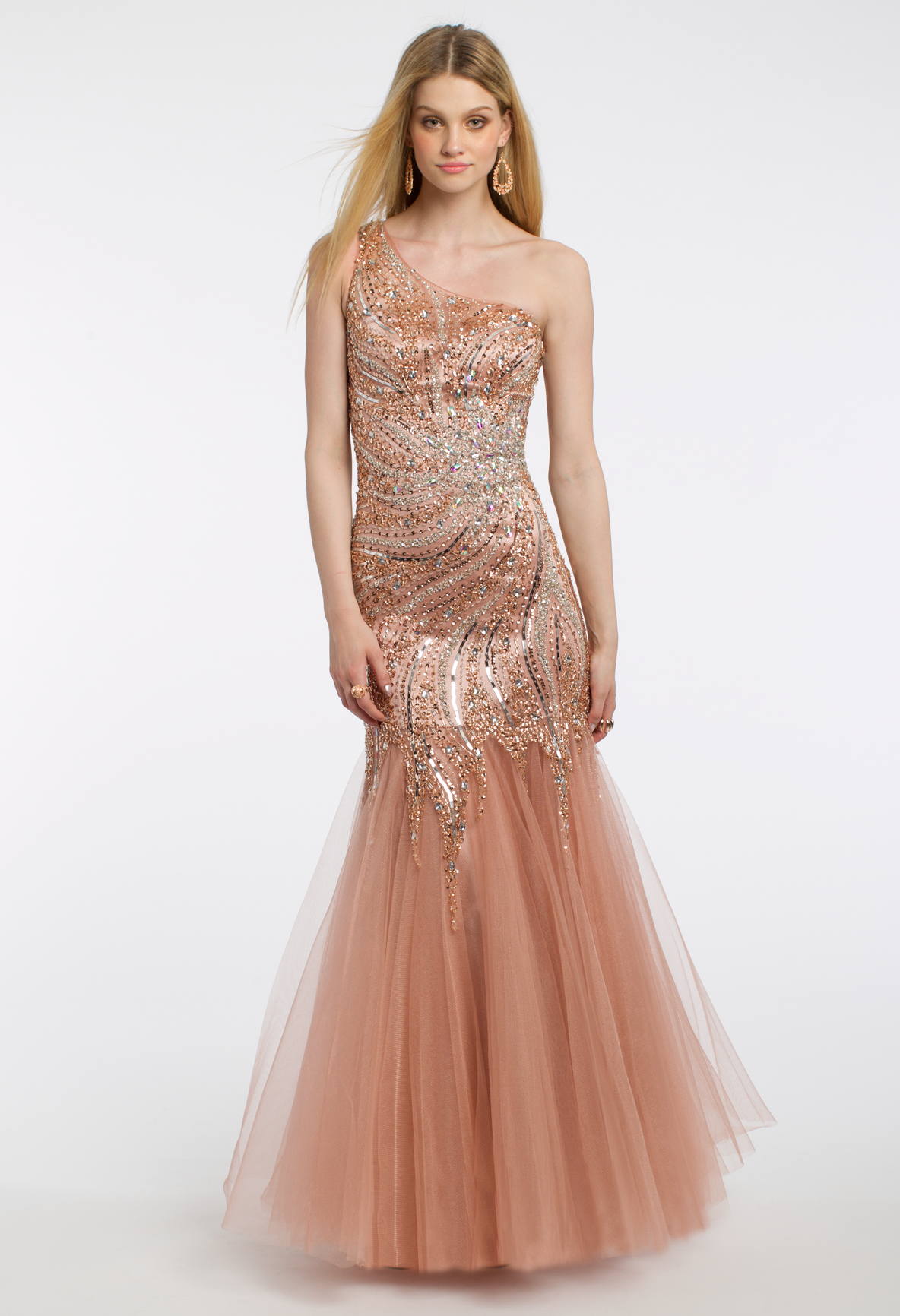 Long dresses to wear to a wedding  Sequin Beaded Tulle Dress  Mesh skirt Prom and Bodice