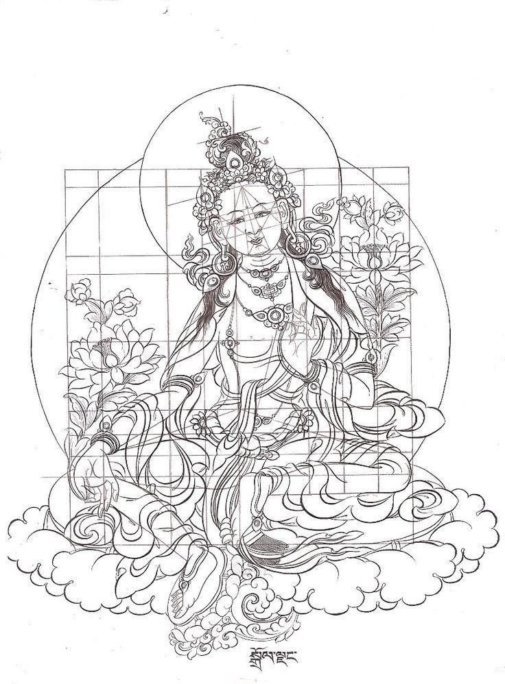Drawing The Line Tattoos Tara Mccabe : Tibetan thangka paintings art courses thangde