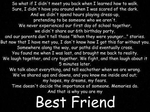 Couldn't have said it better!!!! Your my lifelong best friend no