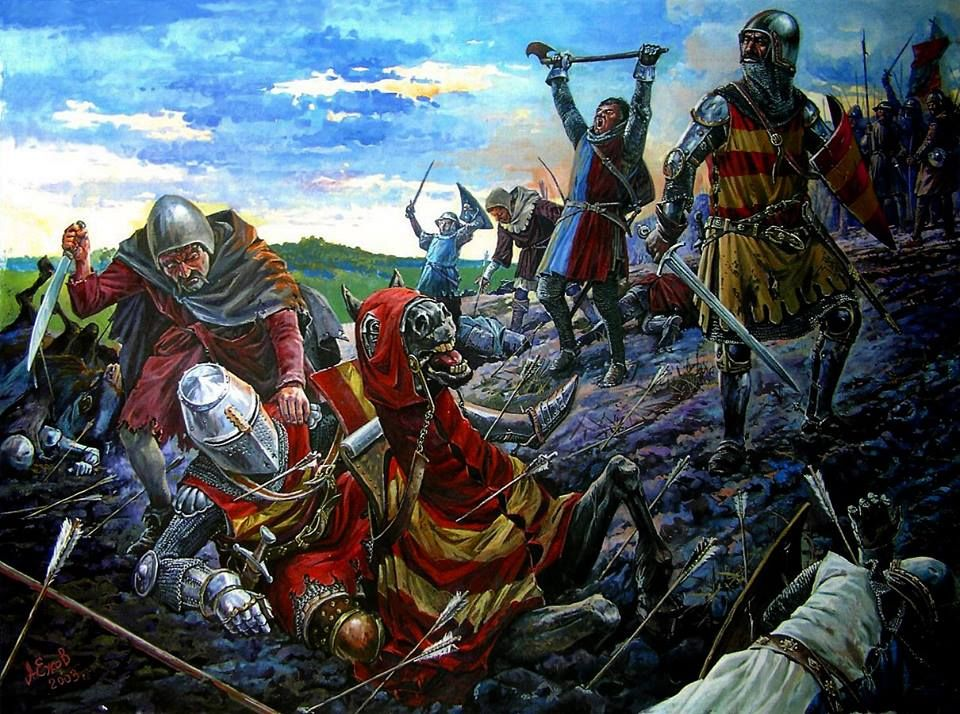 Battle of Crecy English archers finish off the French