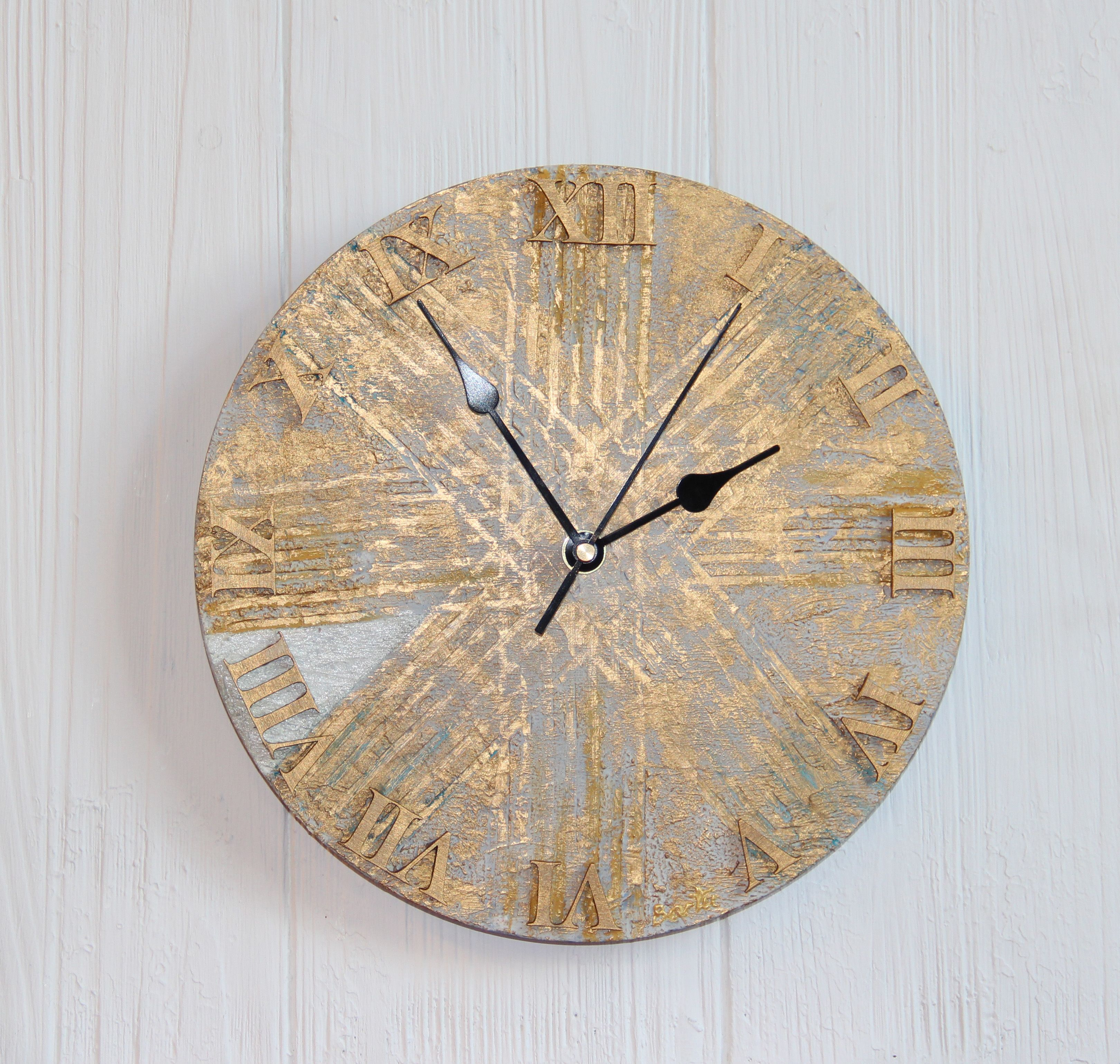 Ancient Time Handmade Wall Clock Gold Alone Controls Us