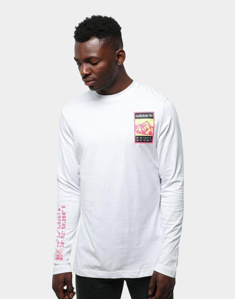 Adidas graphic long sleeve tee white | Long sleeve tees