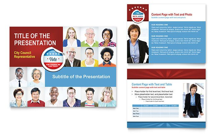 Political Candidate PowerPoint Presentation Design Template by - political brochure