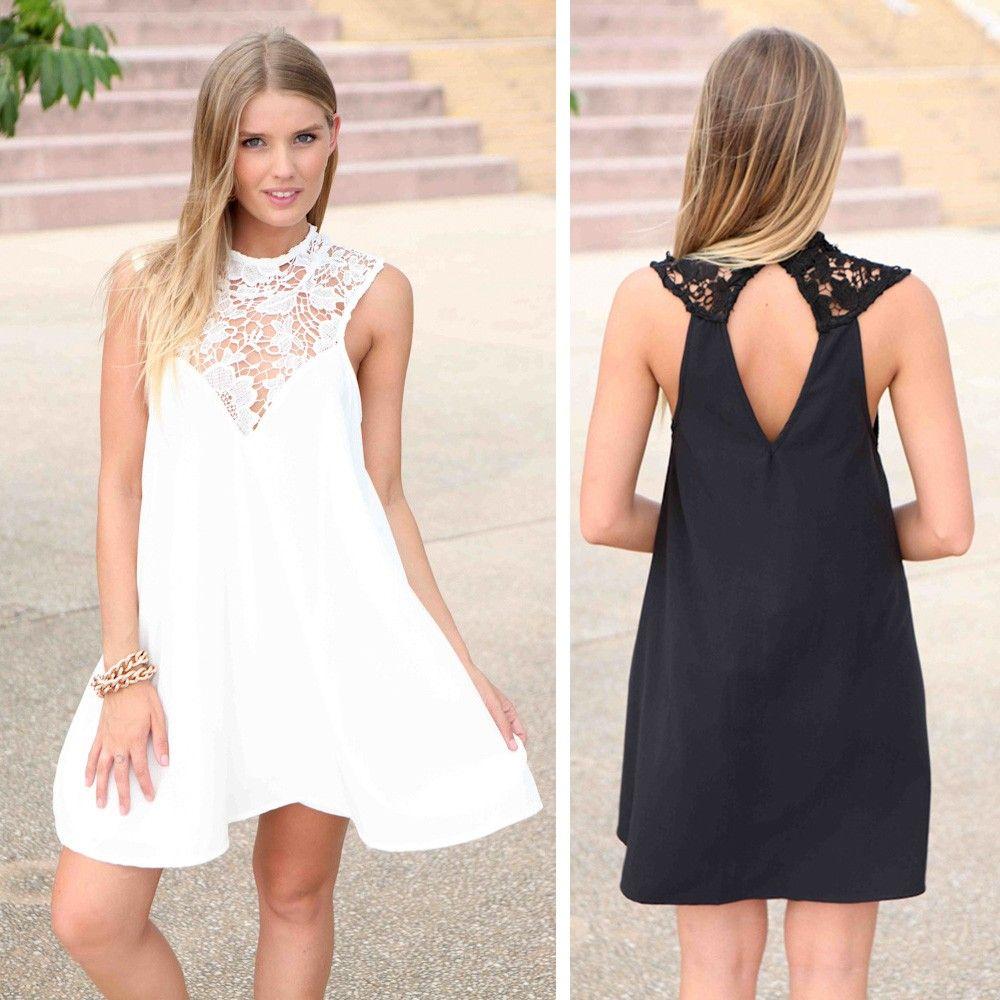 Kleid mit Spitzen-Ausschnitt | Pinterest | Ausschnitt, Outfit und ...