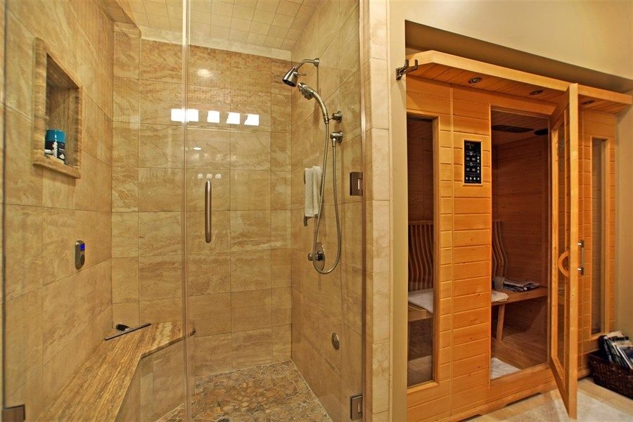infrared sauna in bathroom designs  Google Search  Home