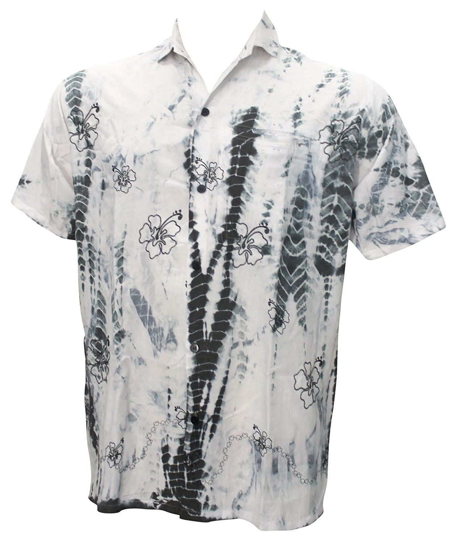 8bf52539 Men's Clothing, Shirts, Casual Button-Down Shirts, Hawaiian Shirt For Men  Short Sleeves Front-Pocket Rayon Tie Dye Grey Grey - Grey - C211KKQP4ON #men  ...