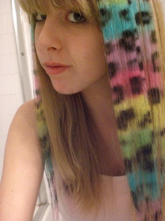 Rainbow Leopard Hair Extensions Animal Hair Let Your Wild Side