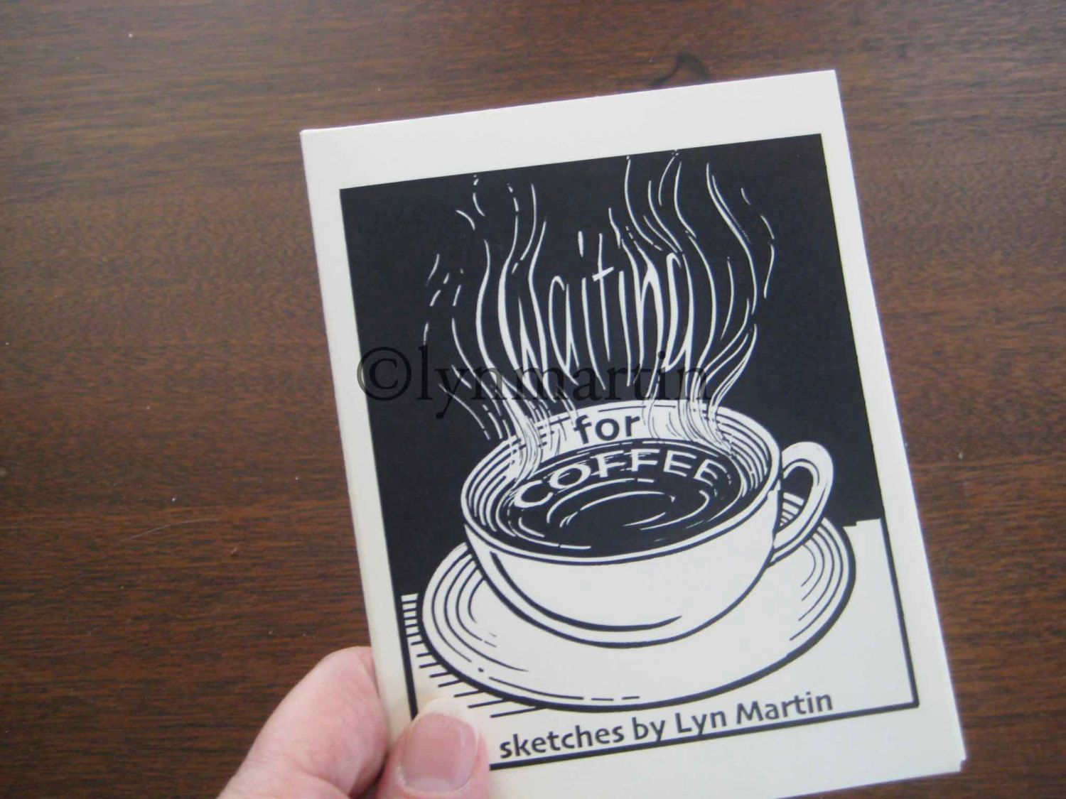 Waiting for Coffee    hand made zine by lynmartinart on Etsy