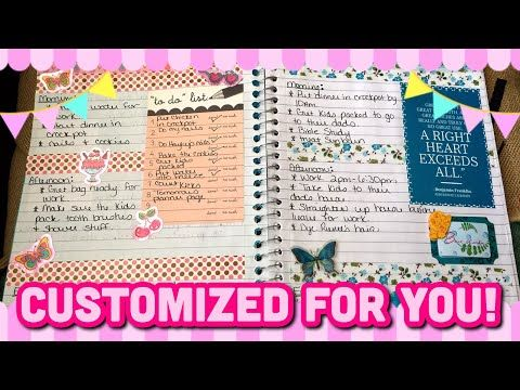 Diy Notebook Into A Planner Idea Planner Life Diy Notebook Planner Life Planner