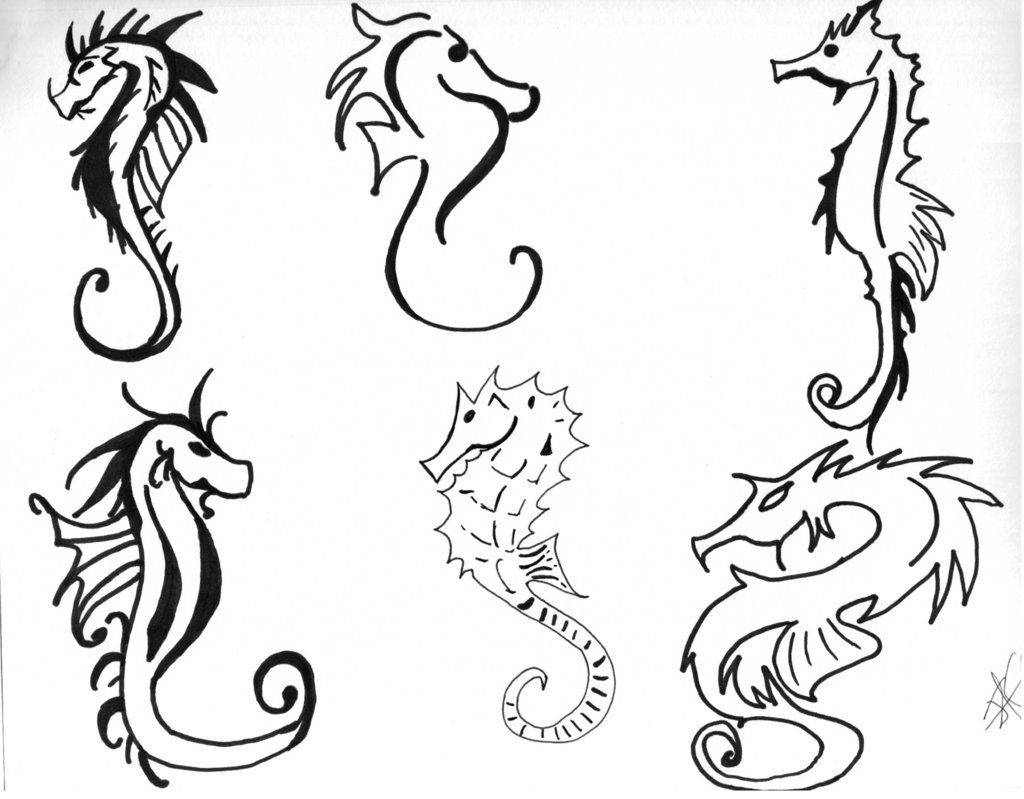 how to draw a seahorse designs interfaces tattoo design 2007
