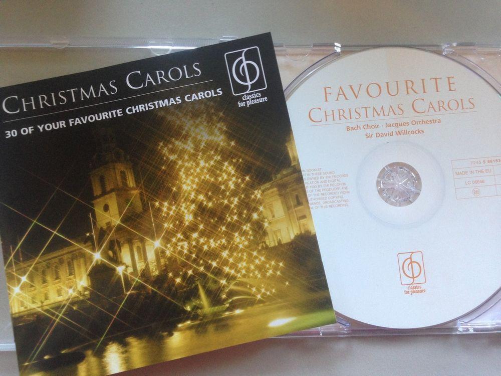 CHRISTMAS CAROLS - 30 Favourite Sir David Wilcox CD 2004 CFP / EMI, As New Cond!