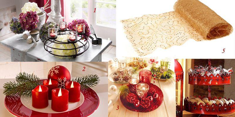 Bougies et objets d co de f tes poser sur la table for Objet deco a poser sur une table