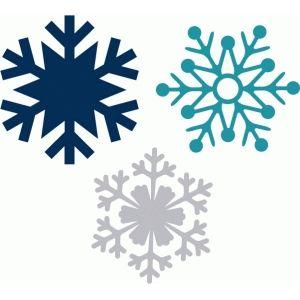 Silhouette Design Store - View Design #51854: snowflake set