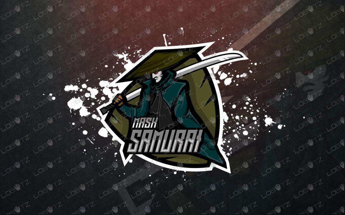 Samurai esports logo samurai mascot logo   Logos