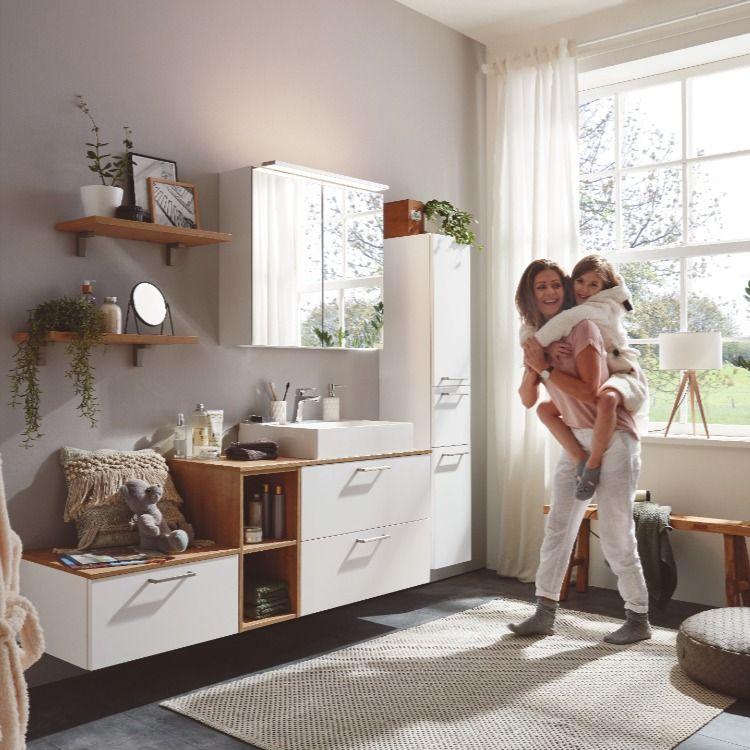 Nobilia Elements Badmobel Set Badschranke Weiss Eiche Provence In 2020 Badschrank Spiegelschrank Badezimmer Unterschrank
