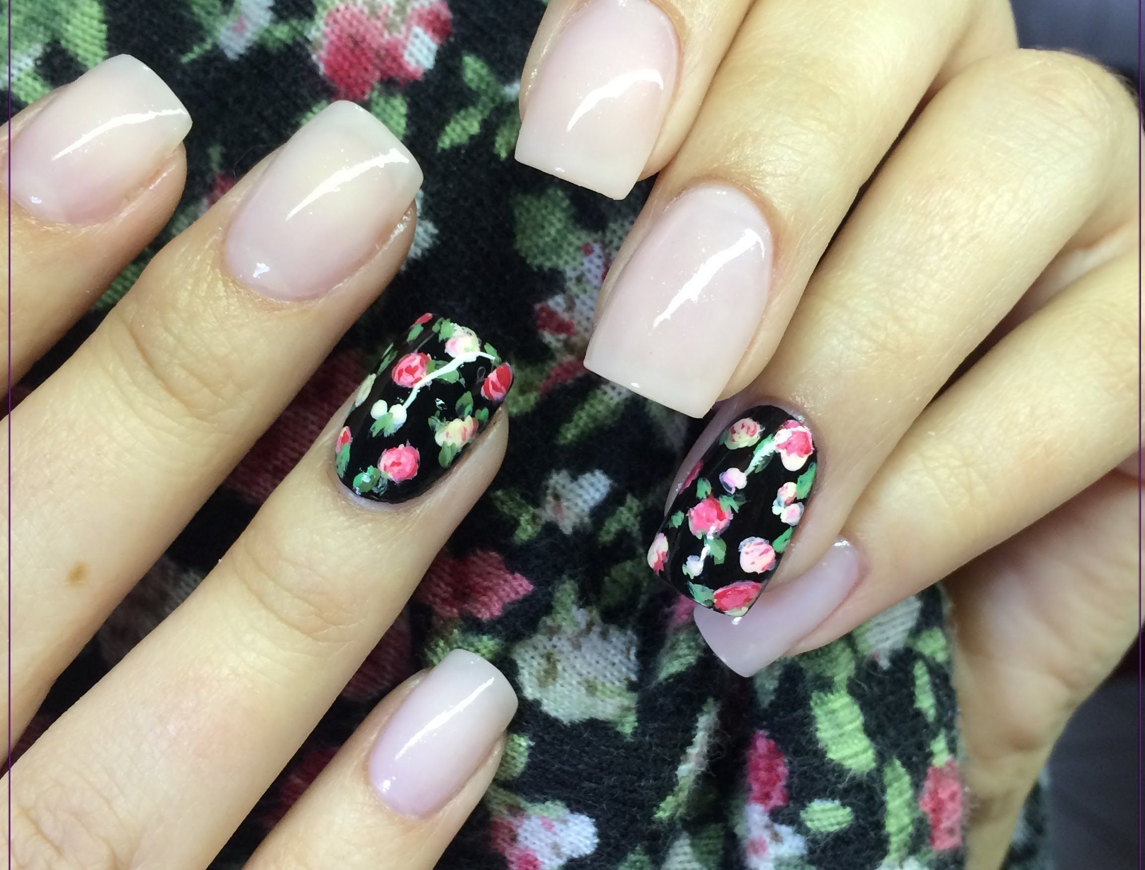 Rosas Faciles Mano Alzada Uñas Pinterest Nails Nail Art Y