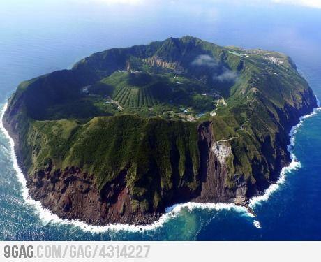 Aogashima, Izu Islands, Philippines Sea.