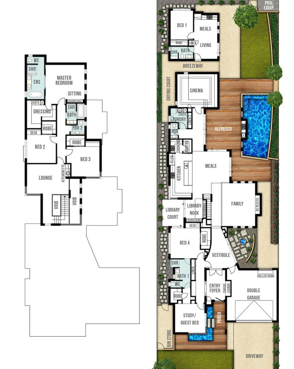 Two Storey House Floor Plans The Orient By Boyd Design Perth Unique Floor Plans Floor Plans Mansion Floor Plan