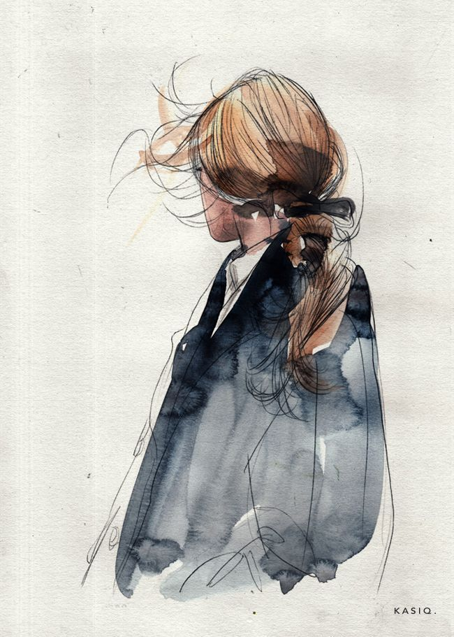 Photo of Fashion Illustration on Behance Fits your own style instead of hours