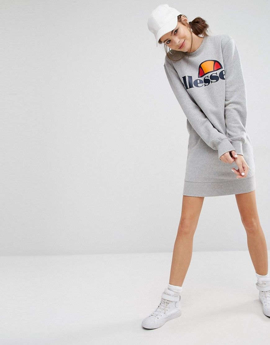 Image 4 of Ellesse Sweat Dress With Front Logo
