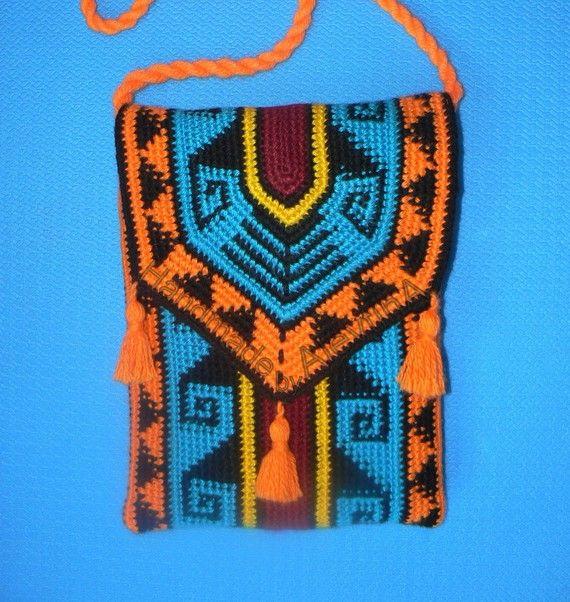 Ornamental crochet bag por AlevtinaDesigns en Etsy, $153.00 | Надо ...