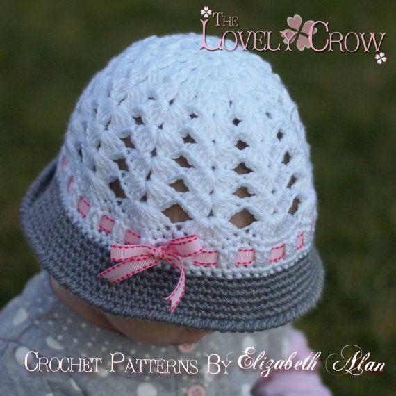 Baby Hat Crochet Pattern for My ANGEL BABY Cloche digital | Crochet ...