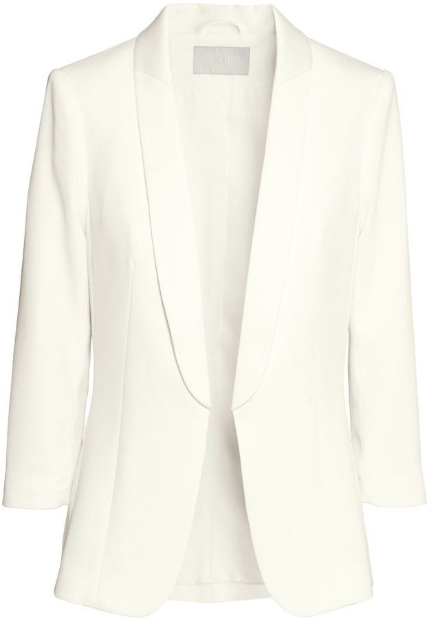 46435afef489 H&M Tuxedo Jacket - White - Ladies on shopstyle.com | Womens Fashion ...