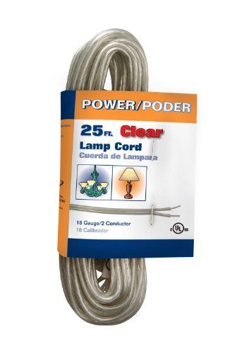 Coleman cable 09430bl18 spt 1 25 feet lamp repair wire clear by coleman cable 09430bl18 182 gauge spt 1 lamp repair wire 25 foot clear 25 feet of lamp wire with bare conductors greentooth Images
