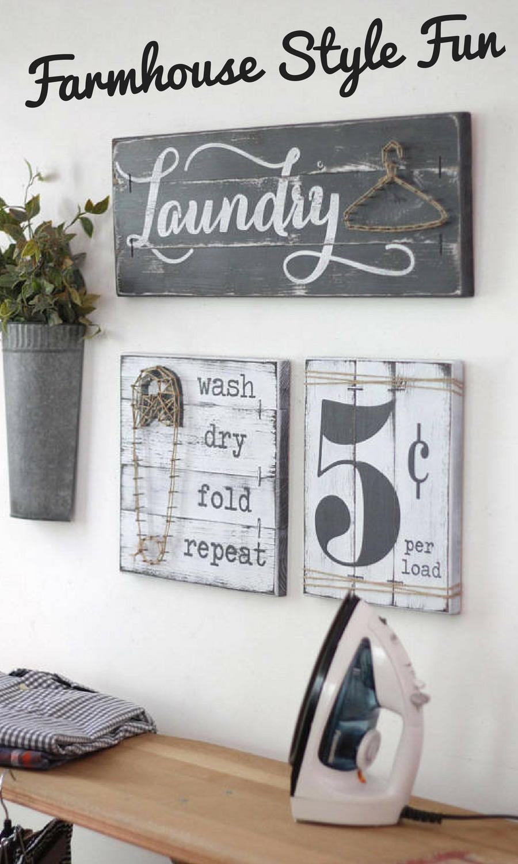 LAUNDRY SIGN SET, Laundry Room Decor, Laundry Room Decor