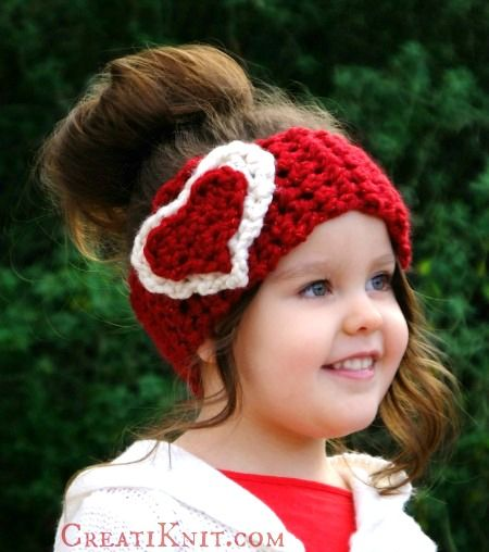 2 Free Heart Head Warmer Patterns Knit Crochet Cupid Knit
