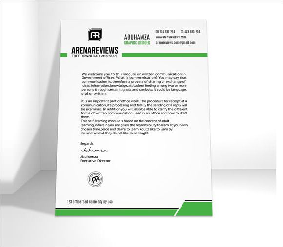 company letterhead template premium and free download for pdf - Official Letterhead