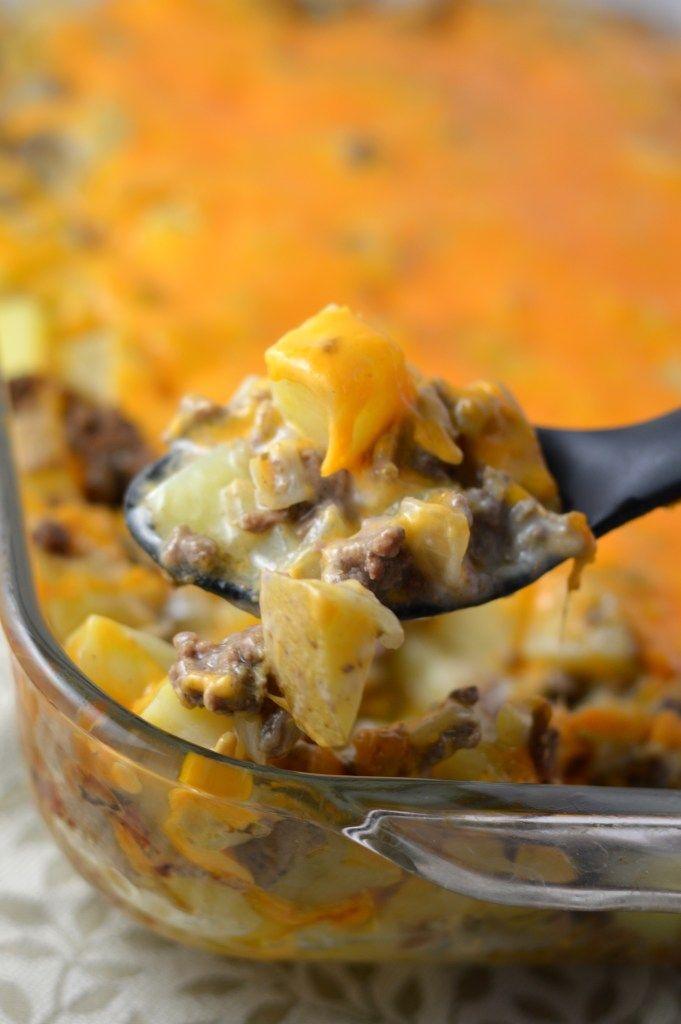 Ground Beef and Potato Casserole #casserolerecipes