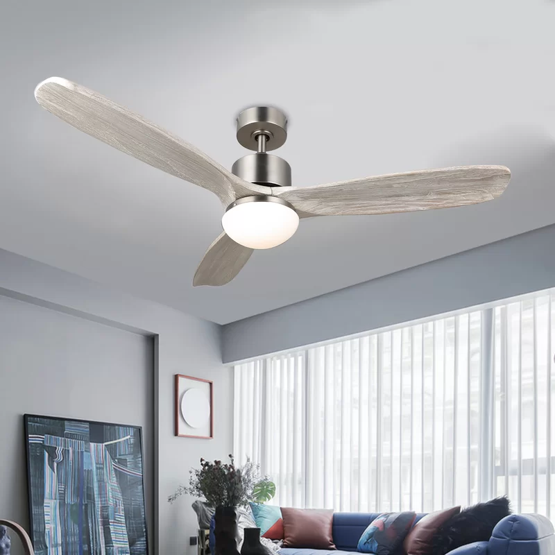 52 Mayna 3 Blade Adjustable Led Ceiling Fan With Remote Light