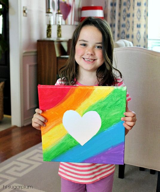 Hi Sugarplum Easy Kid Art Flickr Photo Sharing Kids Canvas Painting For