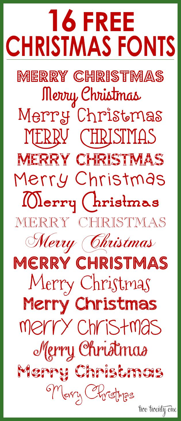 16 Free Christmas Fonts for Your Holiday Designs