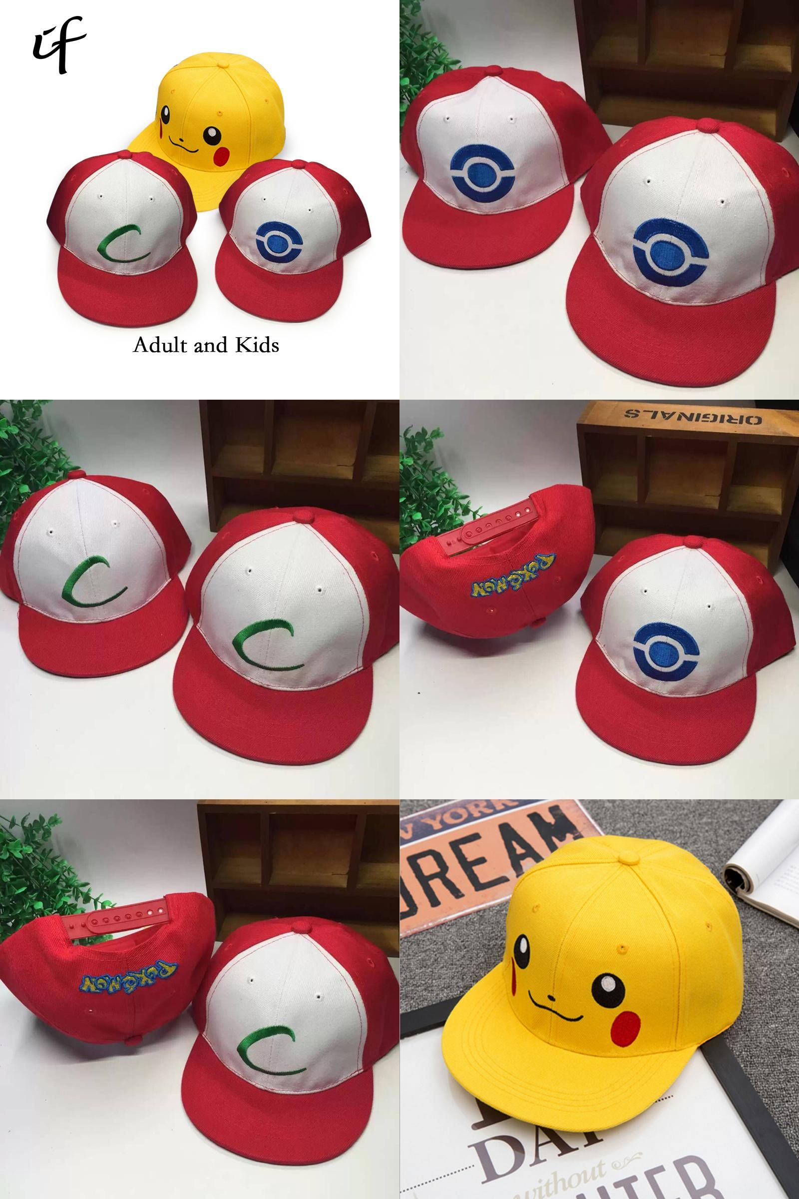 0bc9662ad14db  Visit to Buy  Kids Adult Pokemon Go Cosplay Cap Drake Hip Hop Pikachu  Pocket Monster Bone Dad Hat Baseball Caps Charms Ash Ketchum Casquette   Advertisement