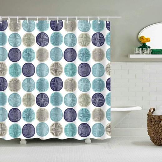 Modern Circle Pattern Fabric Shower Curtain In 2020 Modern