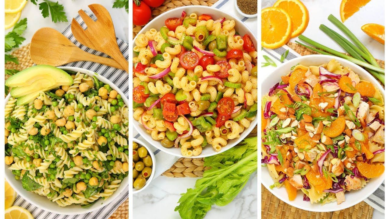 3 pasta salad recipes no mayo easy summer entertaining