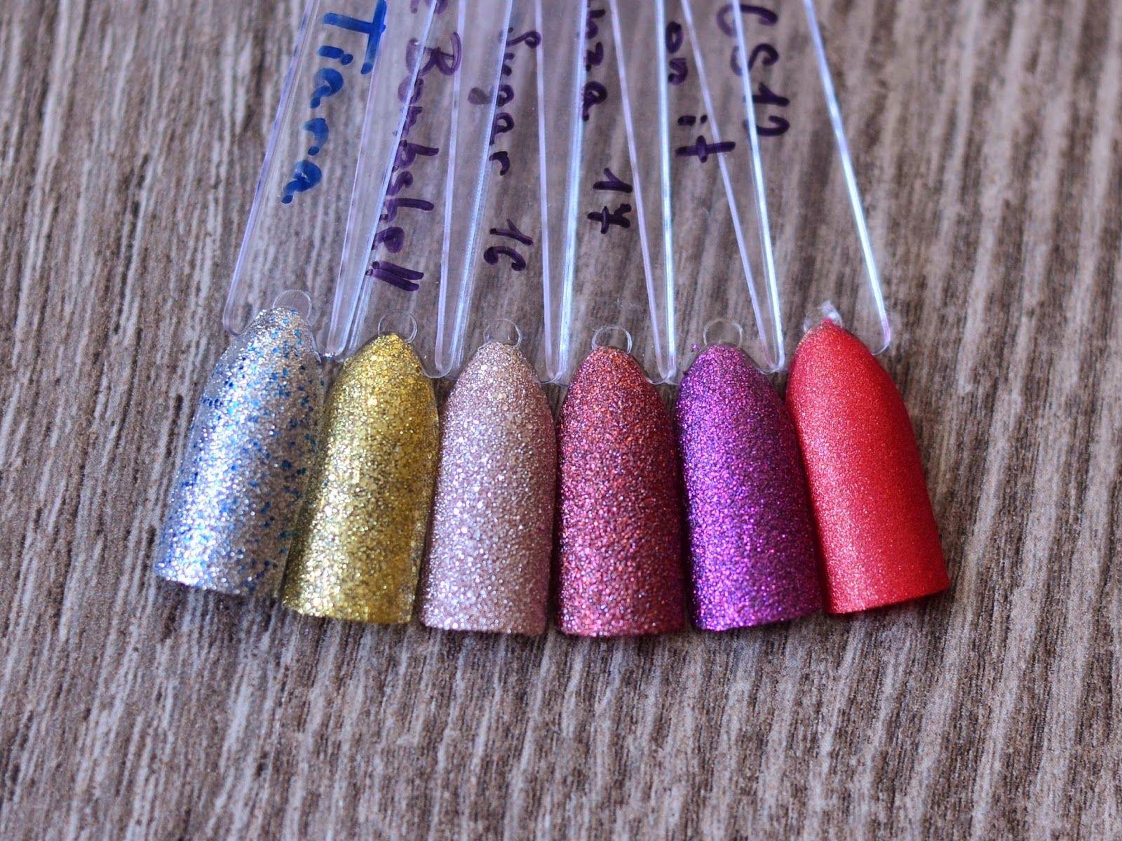 glitter and sand colours nail polish display, storage, colors 50 PCS ...