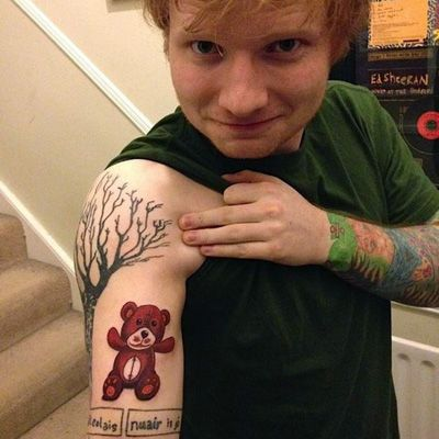 Teddy S Tattoo Of A Teddy D Aww 3 With Images Ed Sheeran