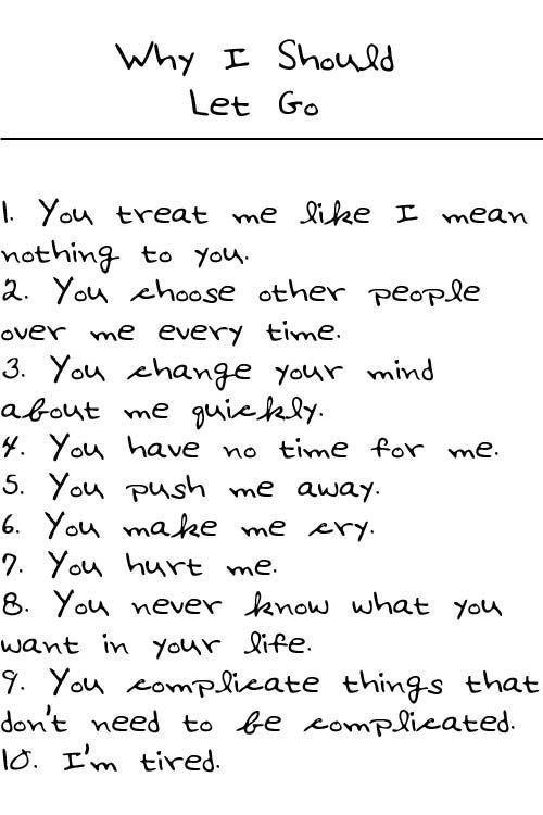 Why I should let go