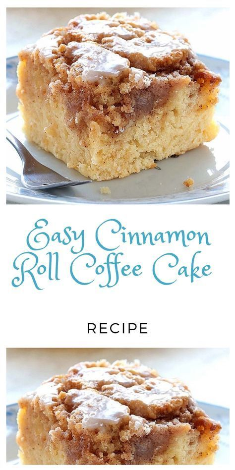Easy Cinnamon Roll Coffee Cake Recipe -   18 desserts Easy recipes ideas