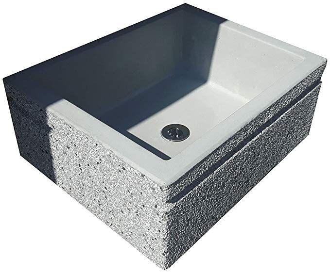 Lavandino lavabo giardino esterno in pietra ricostruita e