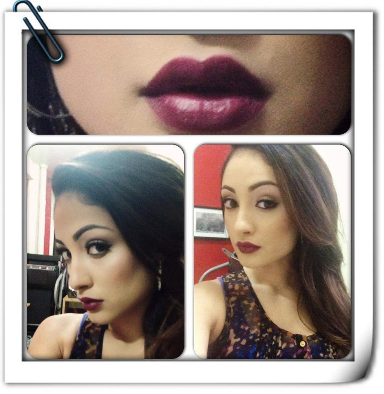 Fall look! I'm loving the deep red lips!!!