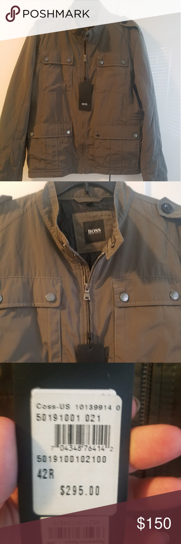 Mens Hugo Boss Lightweight Jacket Nwt Lightweight Jacket Jackets Military Style Jackets [ 1740 x 580 Pixel ]
