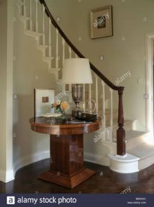 Curved Console Table For Staircase
