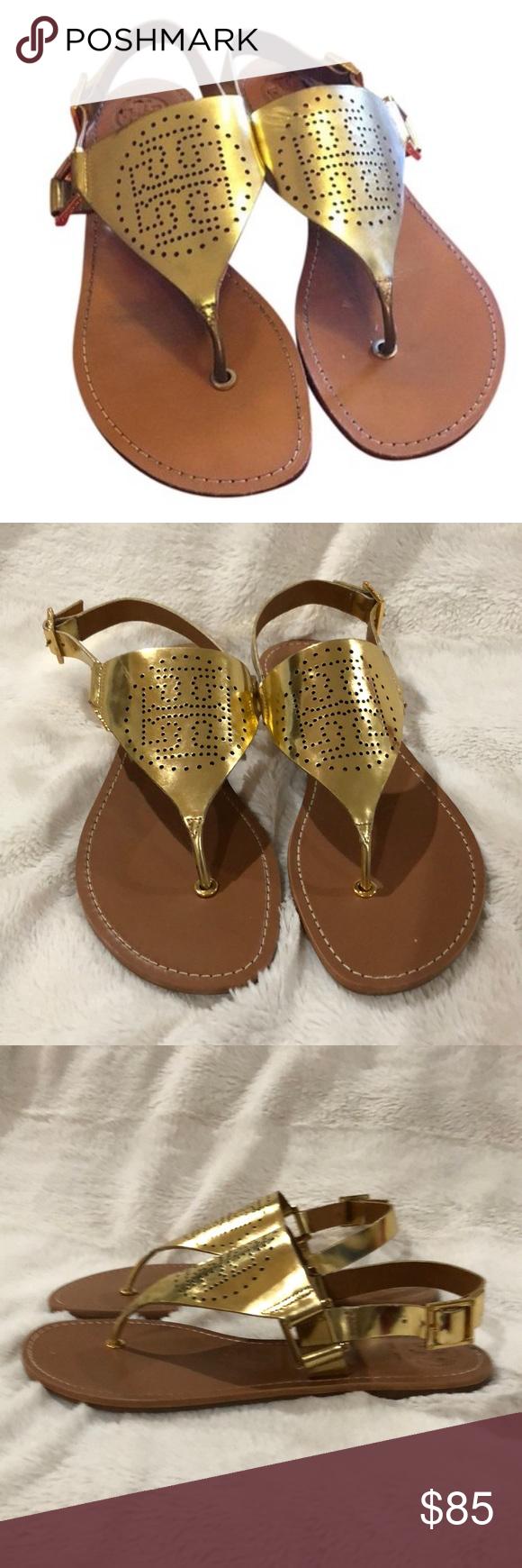 22e5f10b6f8aa NWT Tory Burch Daniela Sandals In Gold size 9.5 NWT and original box Tory  Burch Sandals