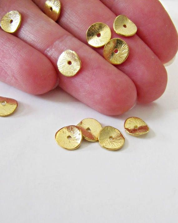 18K gold findings Handmade 18K solid gold beautiful spacer bead